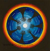 Moon Ritual watercolour watermark